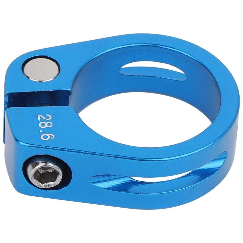 azul Abrazadera de Sill/ín de Bicicleta 28.6mm Abrazadera de Tija de Sill/ín de Bicicleta de Liberaci/ón R/ápida Abrazadera de Postes de Aleaci/ón de Aluminio para Ciclismo de Bicicleta de Monta/ña