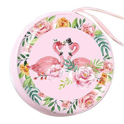 Haodou Flamingo Mujer Fantasía Monedero Circular Mini ...