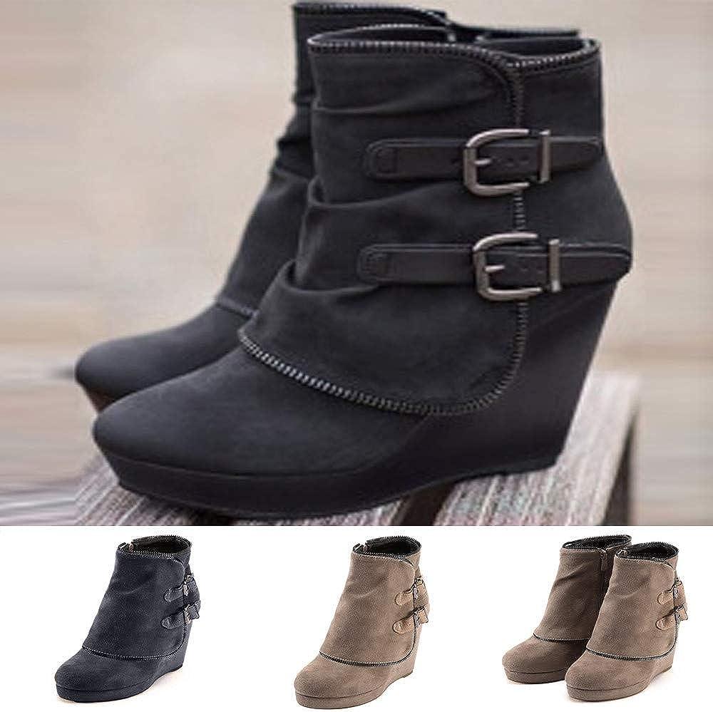 Zapatos Botas,ZARLLE Mujeres De Moda OtoñO Invierno Dedo del Pie ...