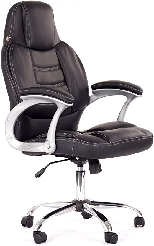huigou HG® Silla Giratoria De Oficina Silla De Juego Confort Premium Reposabrazos Acolchados Silla De Carrera Capacidad De Carga 200 Kg Altura