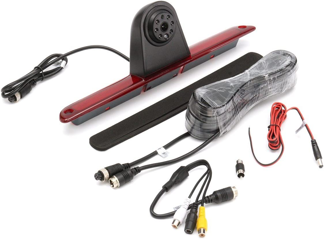 Waterproof Night Vision 3rd Brake Light Reversing Camera for Van Mercedes Sprinter W906 324H 524H//VW Crafter Transporter
