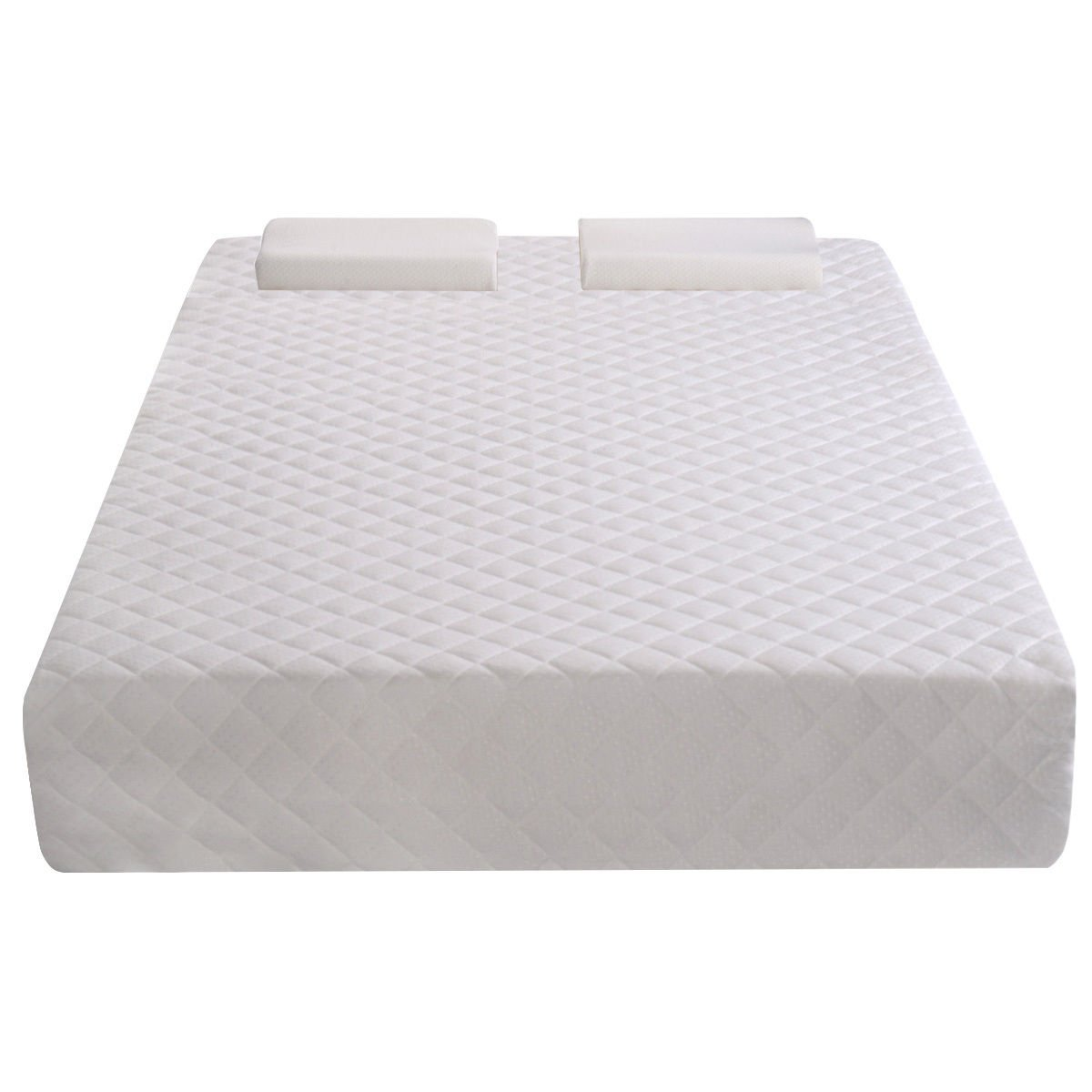 "Adumly Queen Size 10"" Memory Foam Mattress Pad Bed Topper 2 FREE Pillows Relieving pressure"