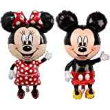 LALIFE 45 Inch Giant Jumbo Size Mickey Mouse Character Foil Balloon Minnie Mouse Balloons for Kids Birthday Party…