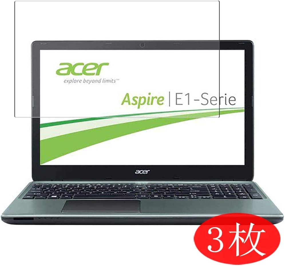 """【3 Pack】 Synvy Screen Protector for Acer Aspire E1-532 / E1-532G / E1-532P / E1-532PG 15.6"""" TPU Flexible HD Film Protective Protectors [Not Tempered Glass]"""