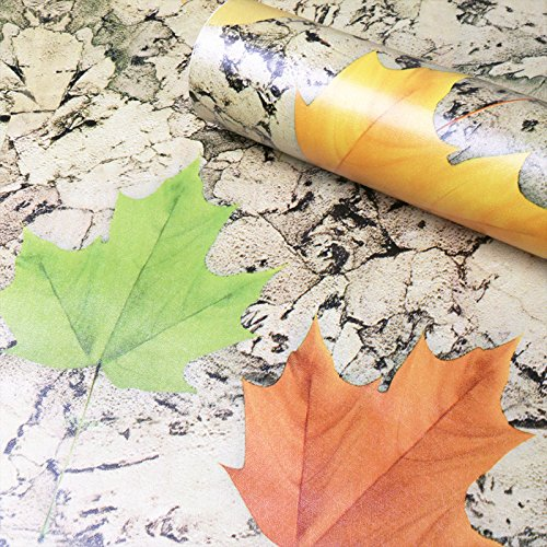 Jedfild Self-adhesive PVC thick wall paper bedroom wallpaper idyllic floral bed for children living room wall posters of kindergarten lemon yellow Maple Leaf Bedroom Maple Poster Bed