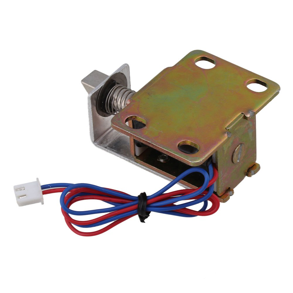 Mxfans 5PCS TFS-A12 Stable Electric Lock Assembly Solenoid Convenient Energy Saving