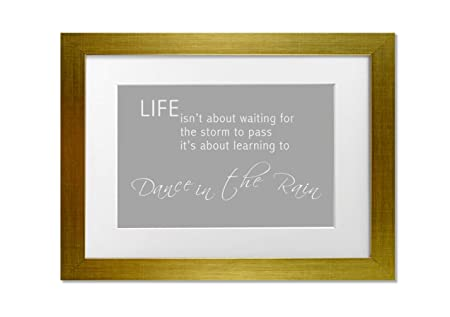 Quotes Life Isnt About Waiting 2 Grey White A3 Framed Art Print
