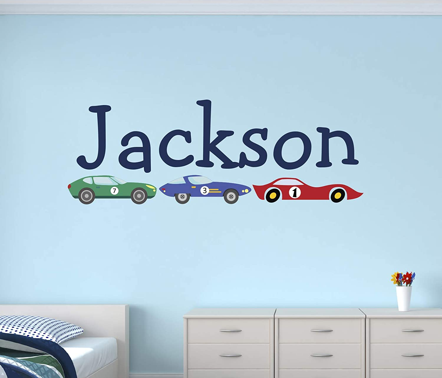 Custom Race Cars Wall Decal