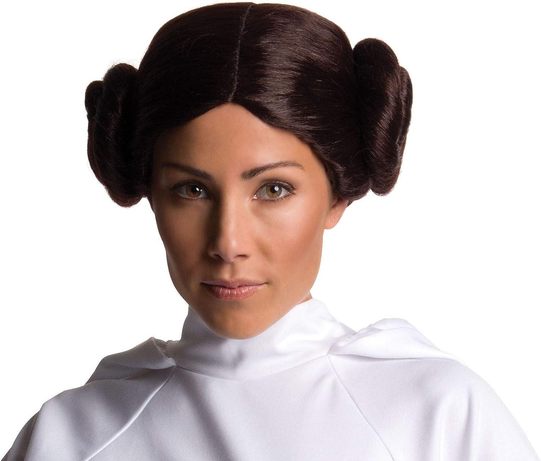 STAR WARS PRINCESS BROWN HAIR WIG BUN HAIRSTYLE ADULT FANCY DRESS ACCESSORY