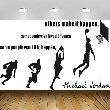 Stickers Muraux Michael Jordan Dunk Citation De La Star Du