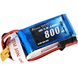 Gens ace 11.1V 800mAh 40C 3S LiPo Battery Pack with JST Plug for 200 250 Heli 800mm Warbirds Eflite Blade CP CP Pro Helicopter