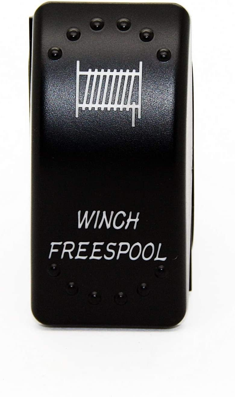Winch Freespool JJ16 LED-Mafia vordere hintere Winde Seilwinde Symbol Kippschalter Wippschalter Schalter Auto Boot KFZ LKW Licht 12V 24V