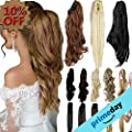 "3-5 Days Delivery 18"" 21"" Straight Curly Synthetic Clip In Claw Ponytail Hair Extension Synthetic Hairpiece 150g with a jaw/claw clip"