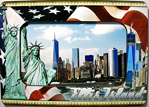 Ellis Island New York Picture Frame Fridge Magnet