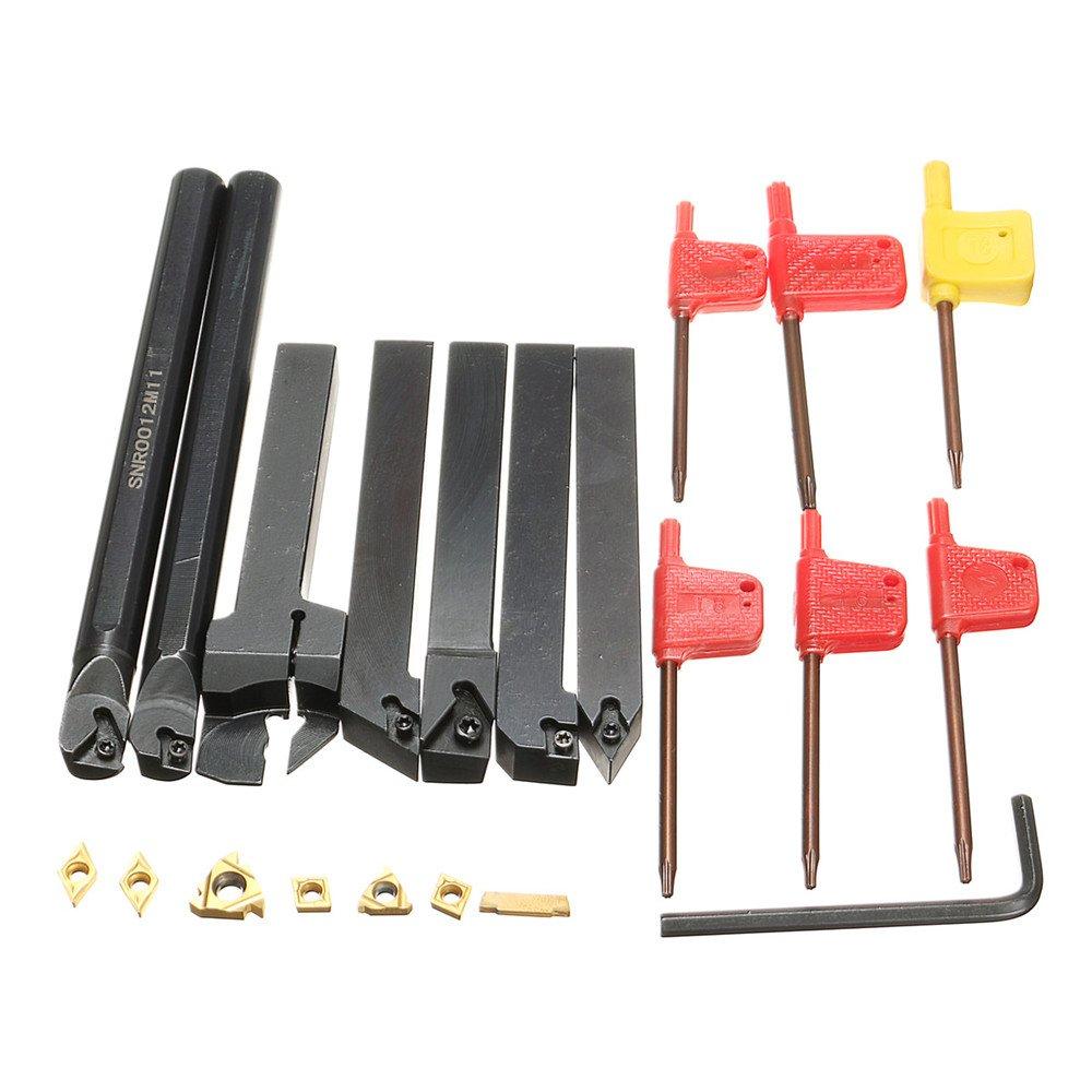 10 DCMT0702 Carbide Inserts Set 4pcs 12mm Lathe Turning Tool Holder Boring Bar