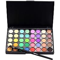 Lookatool Cosmetic Matte Eyeshadow Cream Makeup Palette Shimmer Set 40 Color+ Brush Set (Black - B)