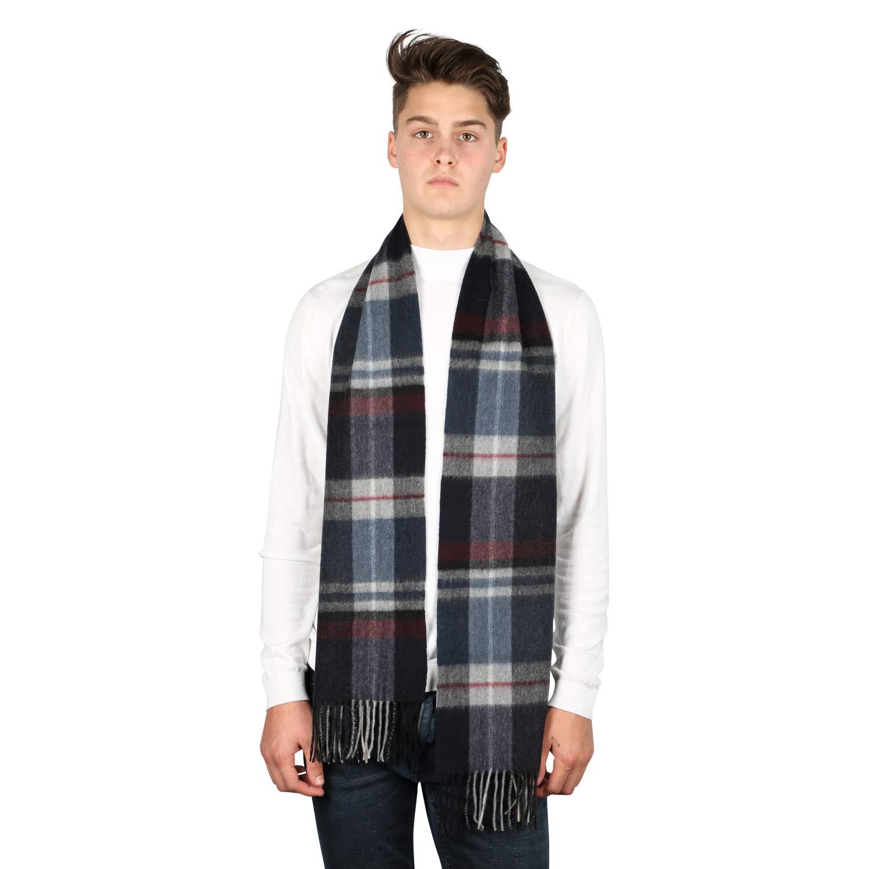 Benson & Brown Premium Solid 100% Cashmere Mens Winter Scarf Black Cold  Weather Scarves