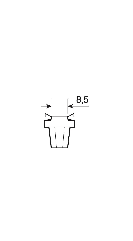 5W 1 Lampe Osram 2752MF ORIGINAL Leiterplatteneinbau Sockel B8.5d 12V 1