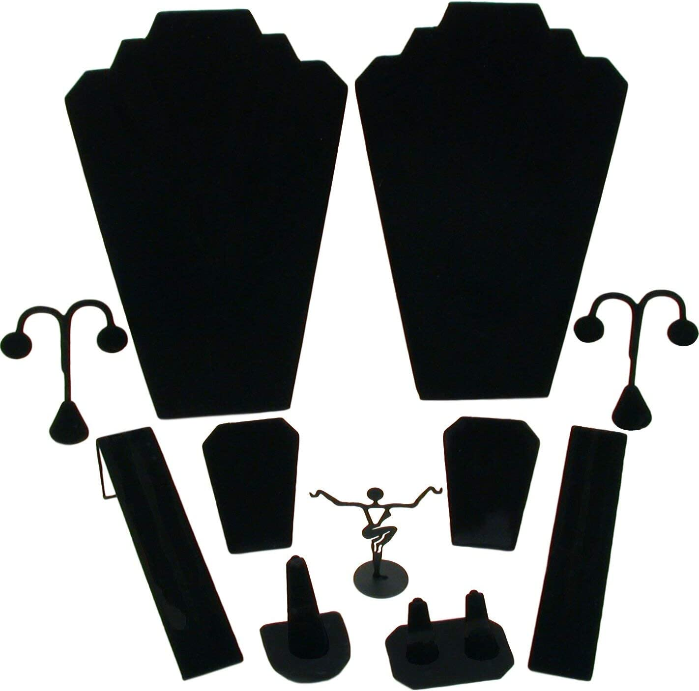 B0012O3HSA FindingKing 11 Pc Set Black Velvet Jewelry Displays Busts Bonus New 61iymovbHxL