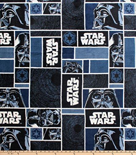 (Eugene Textiles Star Wars Darth Vader Blocks Fleece Black Fabric by the Yard)