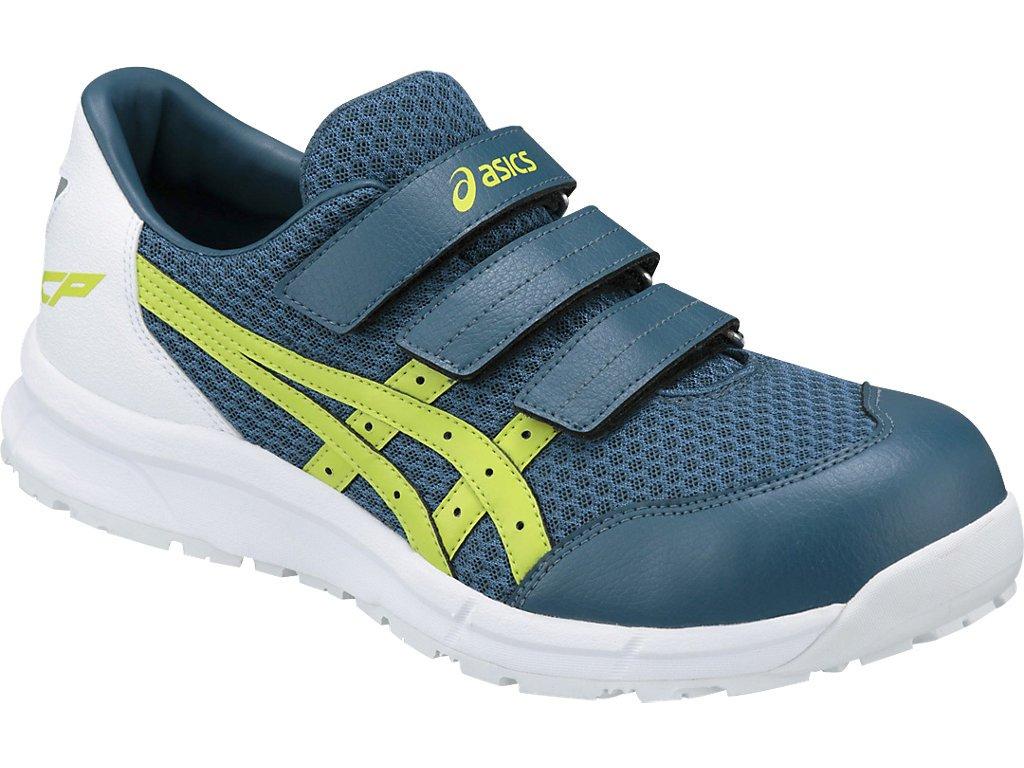 asics アシックス 安全靴 ウィンジョブ CP202 作業靴 ベルトタイプ FCP202 B07BNG33JX インクブルー×ライム 27.0 cm