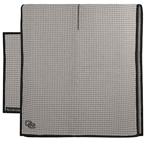 Club Glove Golf Microfiber Caddy and Pocket Towel Set (Cool Gray)