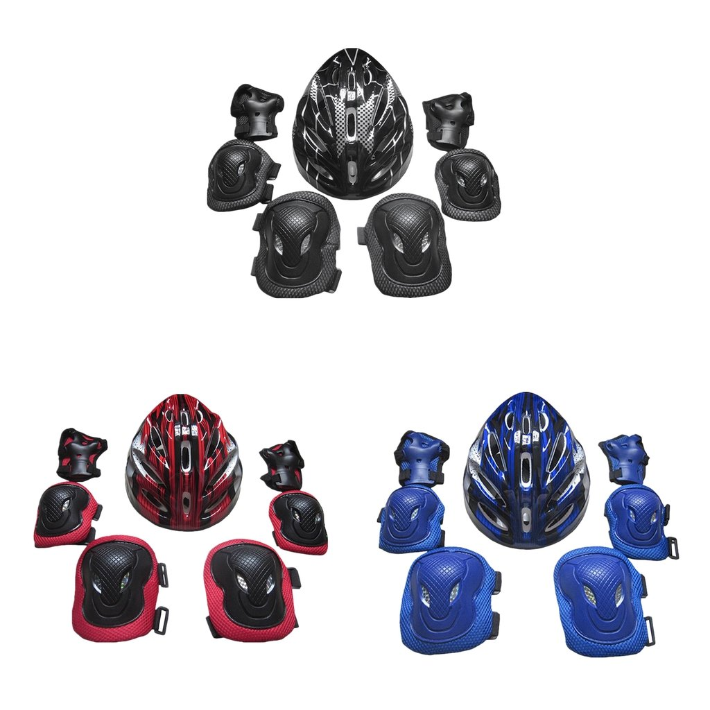 simhoa Adults Protective Gear Set Knee Pads Elbow Pads Hands Pads Helmet Outdoors