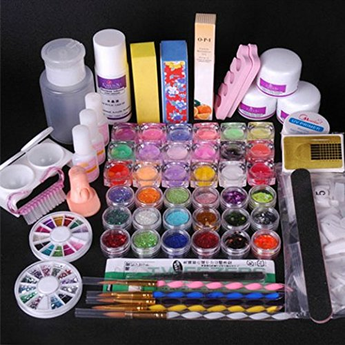 350buy 36 Acrylic Powder Liquid KITS Primer UV NAIL ART TIP Set Dust Stickers Brush