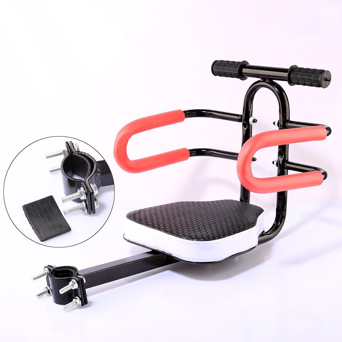 Schwarz Ggoddess Kindersitz Abnehmbarer Fahrrad-Vordersitz Kindersitz Pedal Universal Fahrradsitz mit Armlehnen Schutzb/ügel und Pedal f/ür Herrenfahrr/ädern und Damenr/ädern
