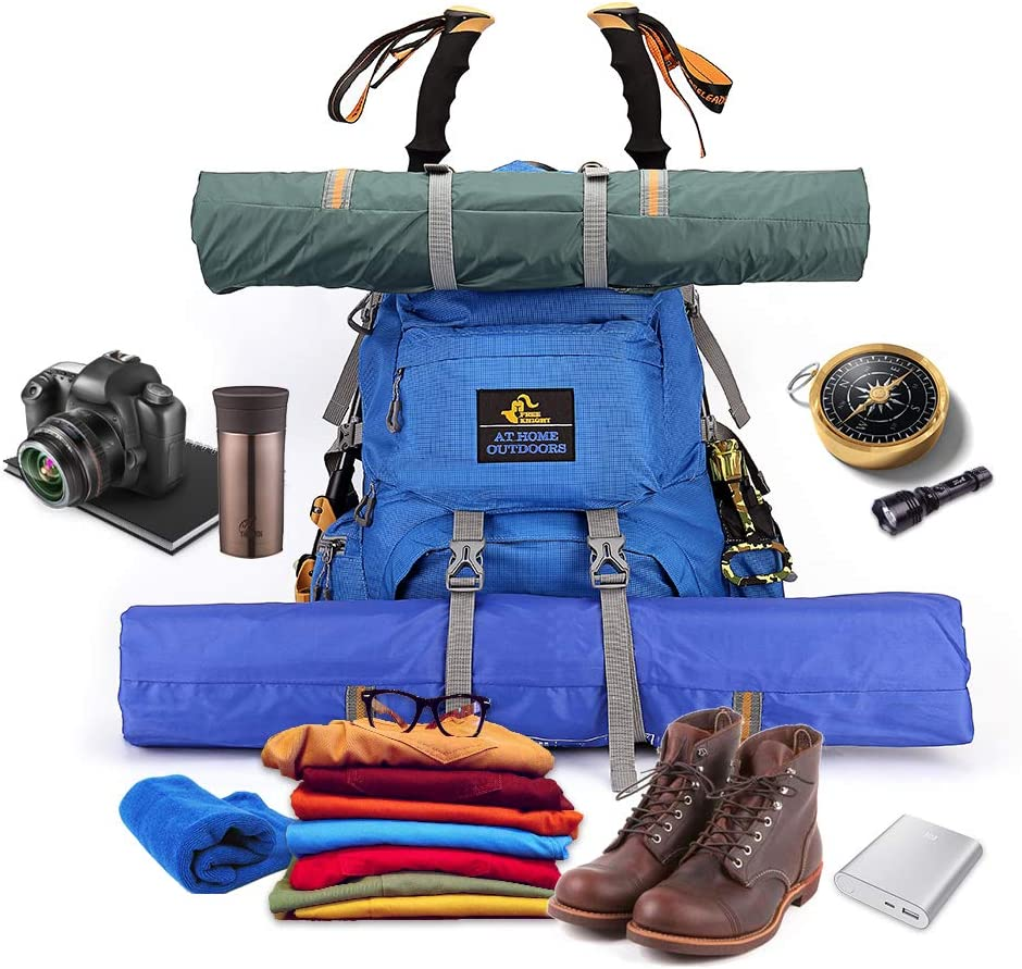 Issyzone 50L Sac /à Dos de Voyage Sac /à Dos de Camping//Randon/ée//Trekking