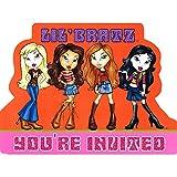 Lil Bratz Glitter Invitations w/ Envelopes (8ct)