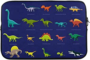 INTERESTPRINT 13 Inch 13.3 Inch Laptop Neoprene Sleeve Bag Cartoon Various Dinosaur Notebook Computer Carrying Case Cover