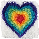 """Spinrite 426301 Caron Shaggy Latch Hook Kit, 12 by 12"""", from The Heart"""