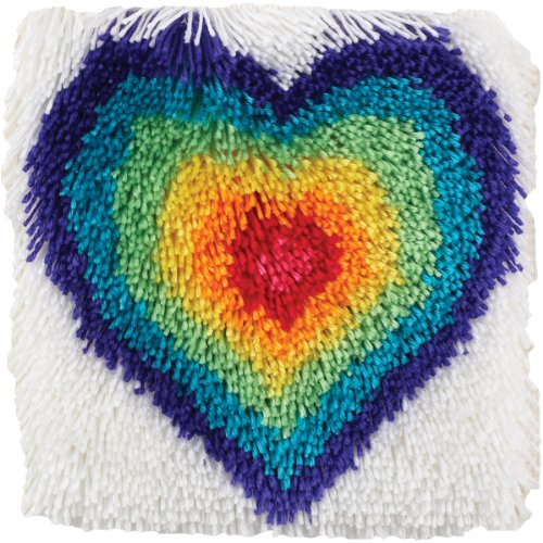 Wonderart Shaggy From The Heart Latch Hook Kit, 12
