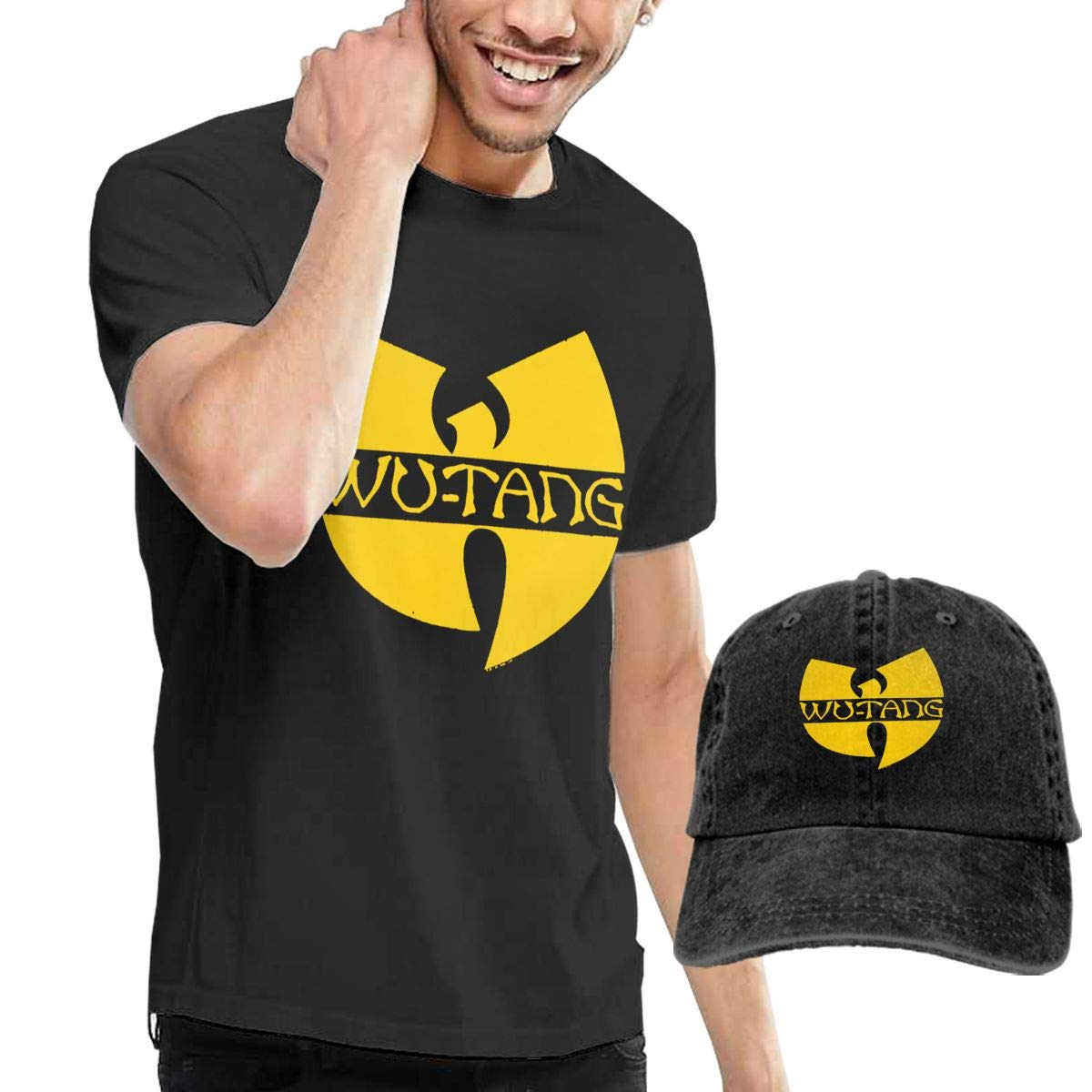 9f3006c7d Amazon.com: Wu-Tang Clan DIstressed Logo Black T-shirt Tee: Clothing