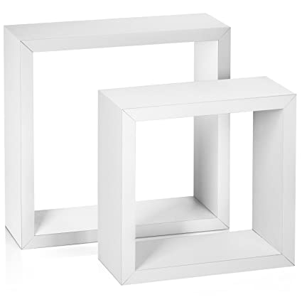 Amazon Halter Square Floating Shelves Set Of Two Large Best White Square Floating Shelves