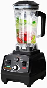 WantJoin Professional Blender, Countertop Blender ,Kitchen Blender Food Mixer 2200W, High Power Home and Commercial Blender with High Speed, Built-in Timer, Smoothie Maker 2200ml for Crushing Ice, Frozen Dessert, Soup,fish (Rubber)
