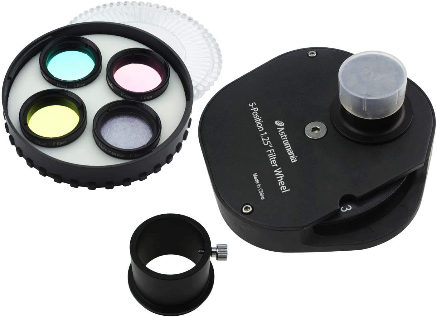 Allowing You to Image Without Any Reflections or Stray Light Astromania 2 Multiple 5-Position Filter Wheel for Telescope
