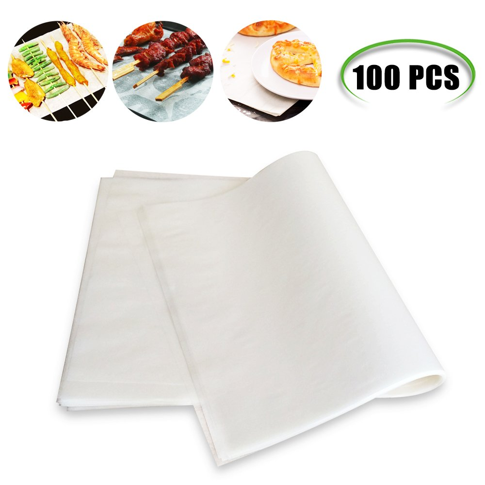 Weoxpr 100 PCS Precut Parchment Paper Cookie Baking Sheets - 12 x 16 Inches - Perfect for High Temperature Baking(White) by Weoxpr (Image #1)