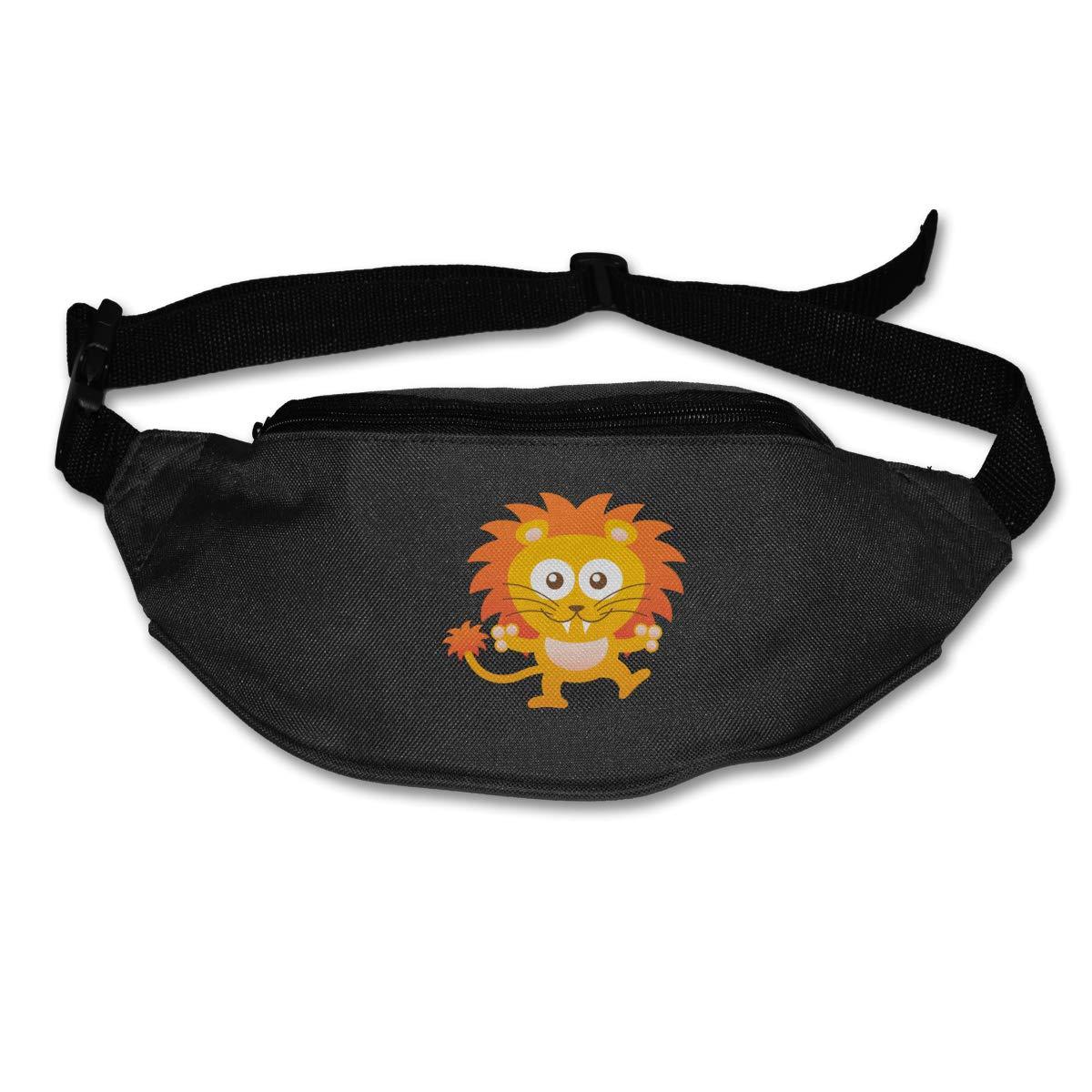 Cute Sweet Orange Lion Sport Waist Pack Fanny Pack Adjustable For Hike