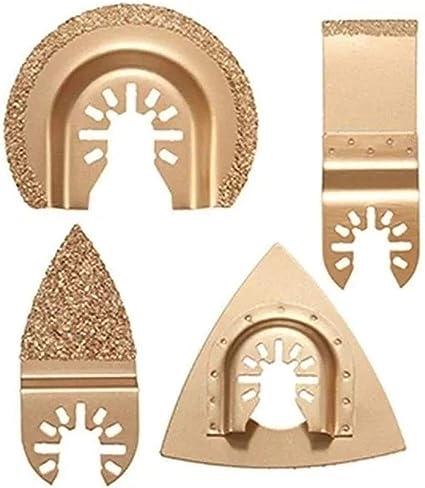 4pcs Carbide Grout Blades Set Oscillating Multitool Saw Blades for Dewalt Stanle