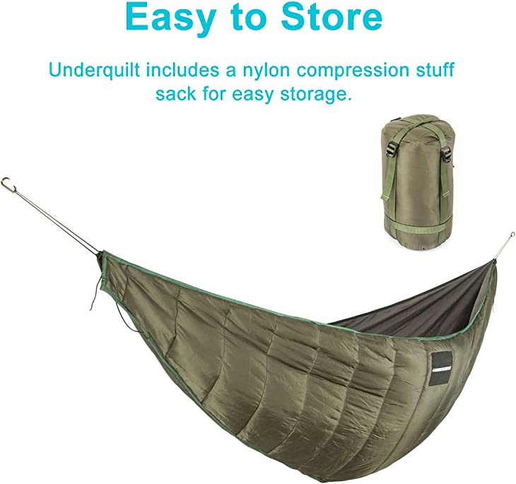 KING SHOWDEN Hammock Underquilt Lightweight Camping Winter Sleeping Bag Under Quilt