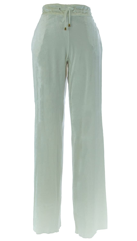 MARINA RINALDI by MaxMara Ex-Scuol White Velour Sweatpants