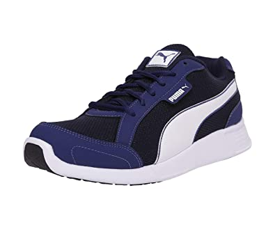 0b59eb92c86 Puma Men's Electro 2 Idp Blue Depths-Bright White-Peacoat Sneakers-11 UK