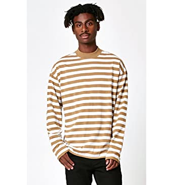 26d85e30af Image Unavailable. Image not available for. Color: Pacsun Mens Starfish Striped  Mock Neck Relaxed Long Sleeve ...