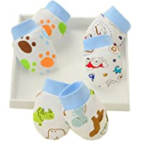 NEPAK 16 Paar Cute Baby Kratzhandschuhe//F/äustlinge f/ür Neugeborene 100/% Baumwolle