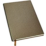Textured High End Journal Notebook: 5'x8', 192 Pages (96 Sheets), Lined Ruled Writing Notebook (Gold)