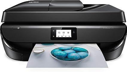 HP Officejet 5230 – Impresora multifunción inalámbrica (tinta, Wi-Fi, copiar, escanear, impresión a doble cara, 1200 x 1200 ppp, 10 ppm, incluido 4 ...