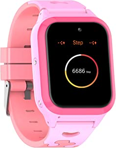 Vowor Kids Smart Watch, 4G WiFi GPS LBS Tracker SOS Emergency Call Video Chat Children Smartwatches, IP67 Waterproof Phone Watch for Boys Girls Age 3Years+, Compatible with Android/iPhone iOS (Pink)