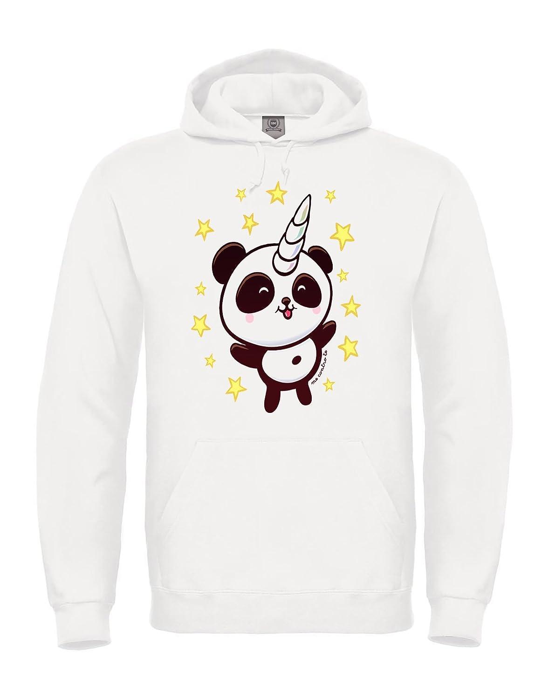 Tshirt-Express La Felpa Pandacorno dei Me Contro Te - con Cappuccio Team TROTE Taglie Adulto e Bambino …